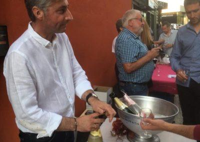 champagne BRUN, oenophil, la fouillouse inauguration